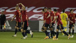 La 'Rojita' celebra un gol ante Kazajistán