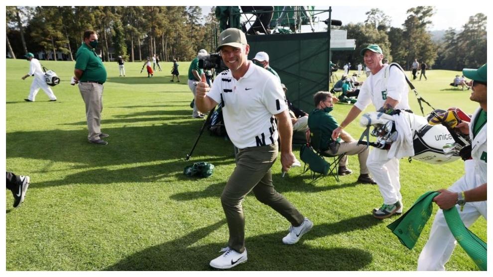 Paul Casey celebra su vuelta en el Masters de Augusta.