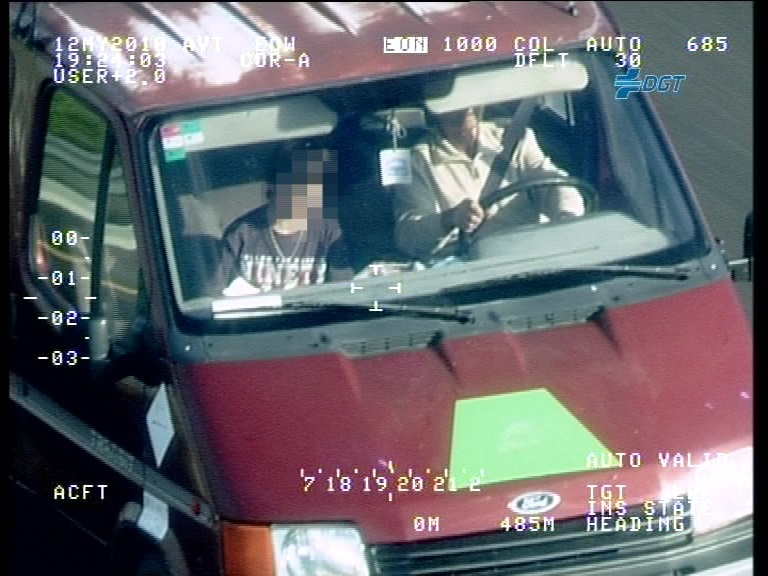 451 ocupantes de furgonetas no hacían uso del cinturón de seguridad.