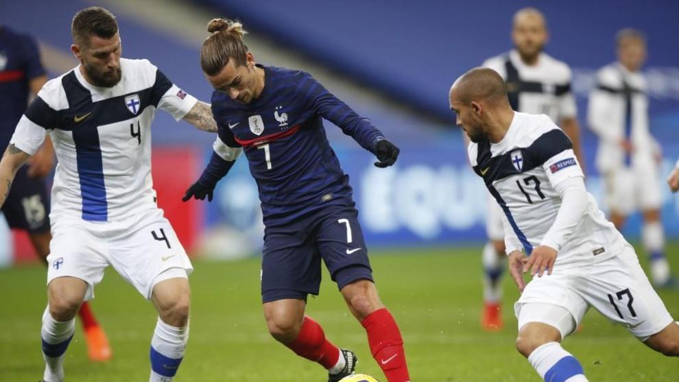 Griezmann, en el encuentro contra Francia.