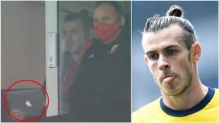 Una montaje con una imagen de Bale y el momento en el que se le ve...