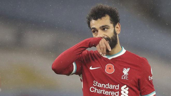 Salah, con el Liverpool.