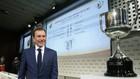 Emilio Butragueño duranteun sorteo de Copa del Rey en la sede de la...