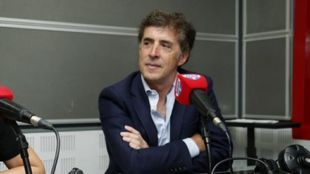 Pedro Delgado, durante una visita a Radio MARCA.