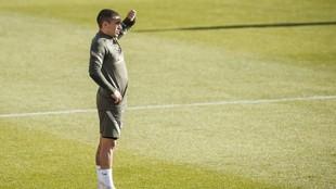 Torreira in Atletico Madrid training