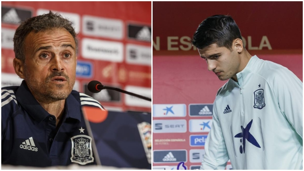 Las ruedas de prensa de Luis Enrique y Álvaro Morata, en directo