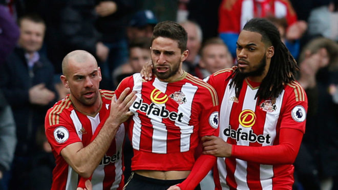El Sunderland, durante su última campaña en la Premier League