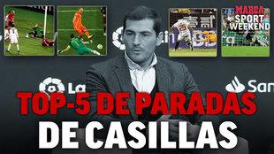 Iker Casillas elige su propio ranking de las mejores paradas de su carrera