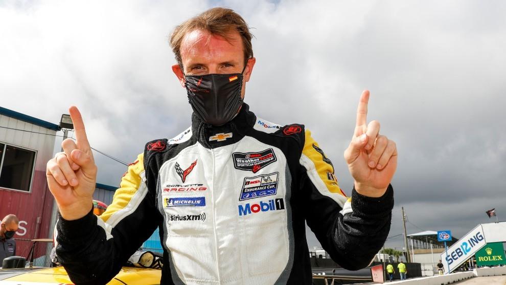 Antonio García firma una pole estratosférica en las 12 Horas de Sebring del IMSA