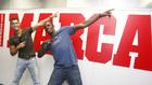 Cristiano y Usain Bolt en la redacción de MARCA