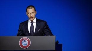 Aleksander Ceferin en el congreso de la UEFA del pasado mes de marzo.