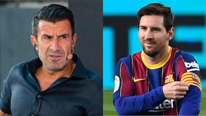 Luis Figo and Lionel Messi.