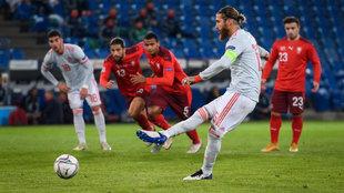 Ramos, desde el punto de penalti
