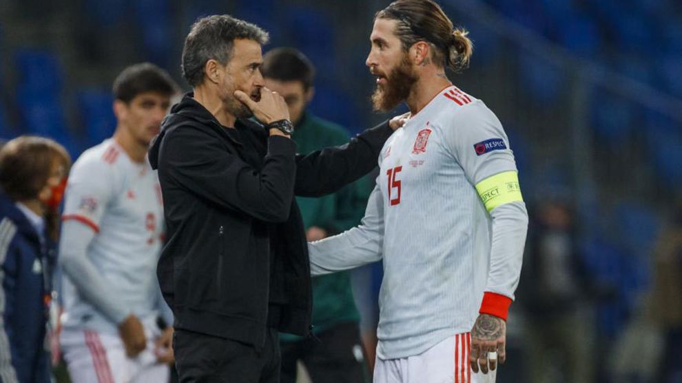 Luis Enrique spoke to Ramos before the second kick
