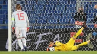 Sergio Ramos volvió a fallar un penalti