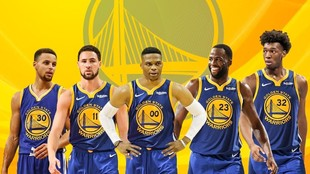 Stephen Curry, Klay Thomson, Russell Westbrook, Draymond Green y James...