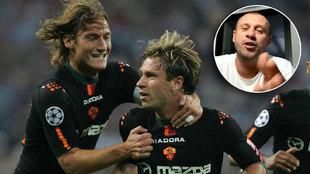La penúltima burla de Cassano: dice estas cosas de Totti en un directo con Vieri
