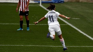 Marta Cardona celebra un gol ante el Athletic Club.