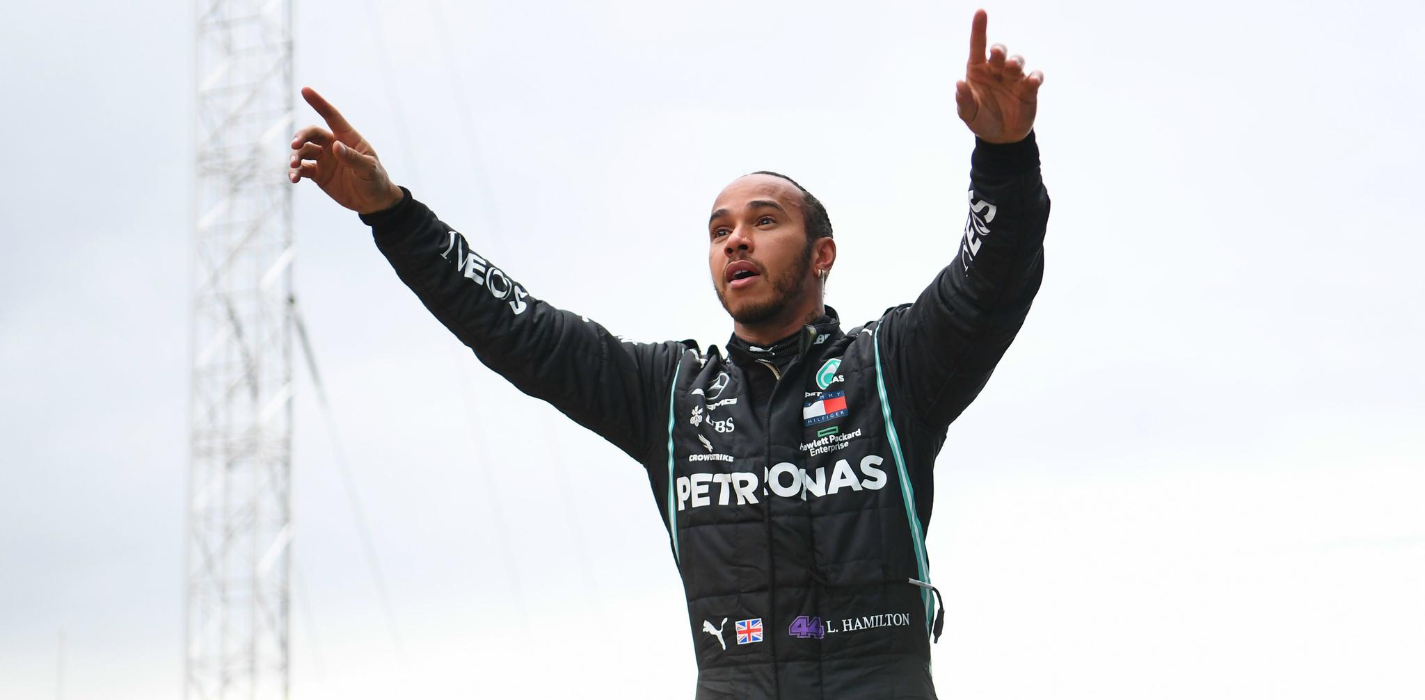Lewis Hamilton, tras sellar su séptimo título.