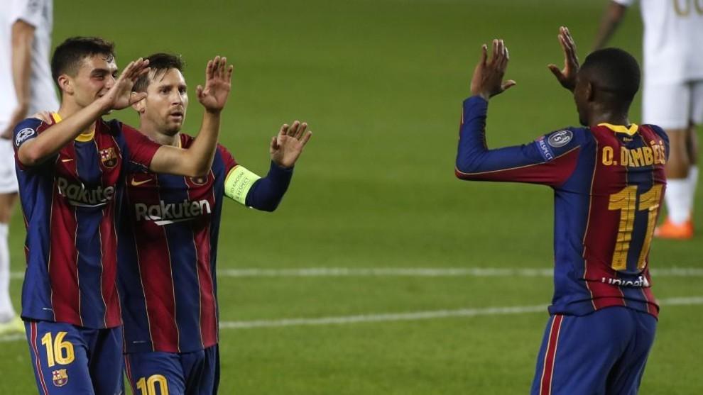 Pedri, Messi and  Dembele