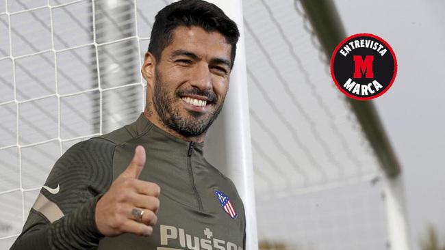 Luis Suárez posa para el MARCA Sport Weekeng.