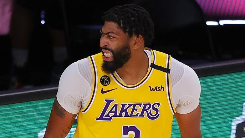 Anthony Davis, en un partido de los Lakers.