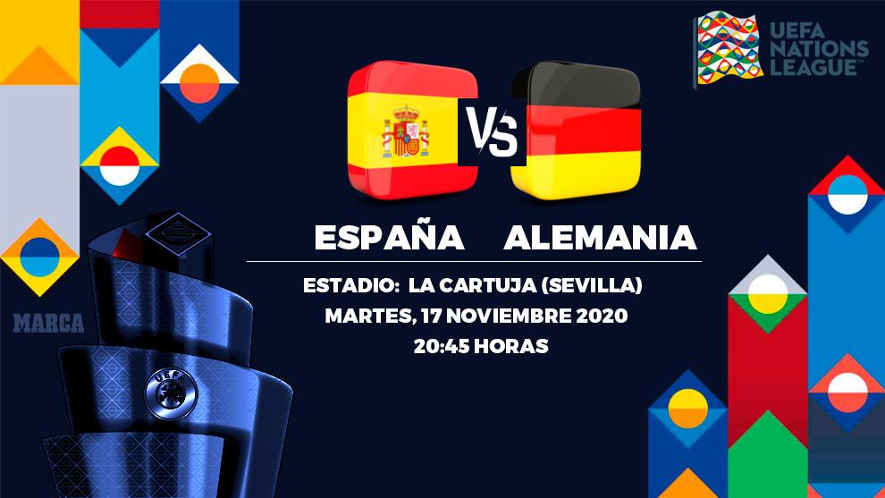 España - Alemania: horario y donde ver hoy por TV el partido...