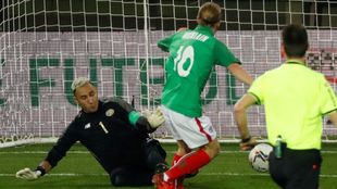 Iker Muniain marcó a Keylor Navas en el minuto 12.