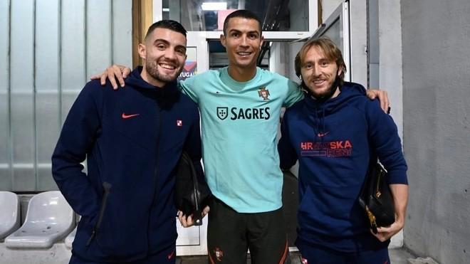 Kovacic, Cristiano Ronaldo and Modric.