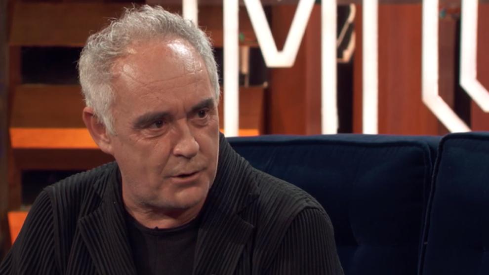 Ferran Adrià en Late Motiv con Andreu Buenafuente
