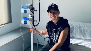 Carla, durante su tratamiento