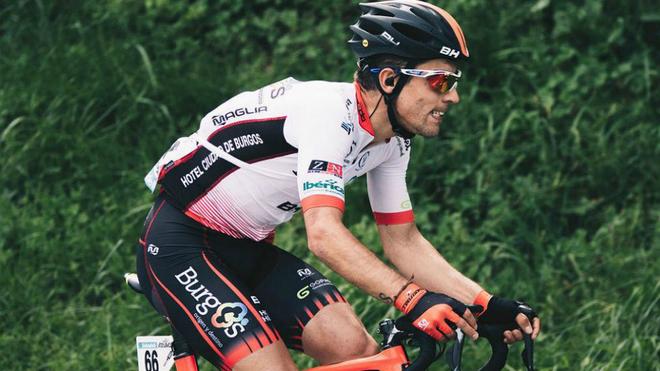 Ibai Salas, durante una etapa de la Vuelta al País Vasco 2018.