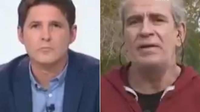 Jesús Cintora, presentador de Las cosas claras, y el actor Willy Toledo