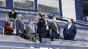 El presidente del Levante, Quico Catalán, en el palco del Nuevo...