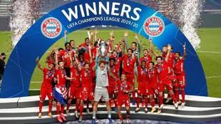 El Bayern, último campeón de la Champions League en Europa