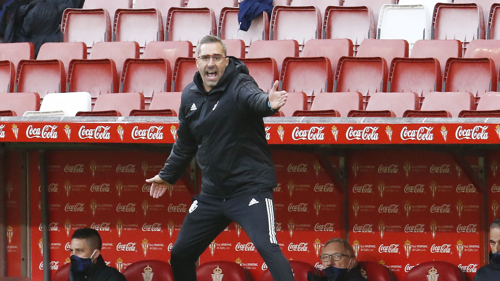 Boro, durante un partido contra el Sporting esta temporada.