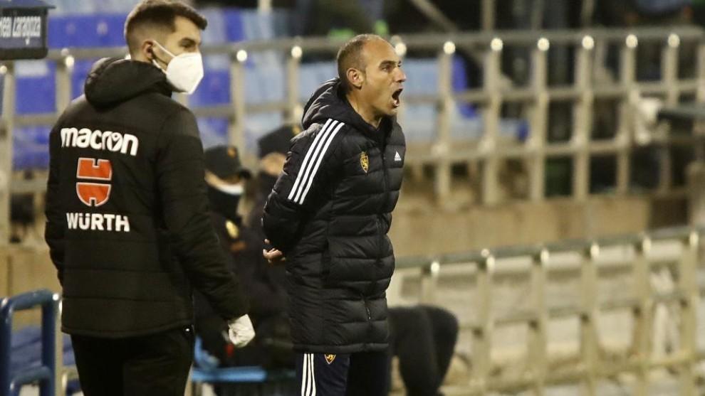 Iván Martínez, durante el partido contra el Oviedo.