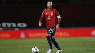 Sergio Ramos, durante el partido.