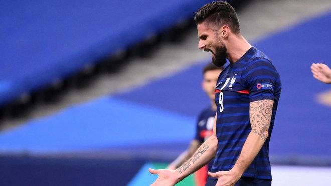 Doblete de Giroud, que se acerca al récord de Henry, y triunfo de Francia sobre Suecia