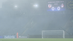 Así terminó de verse el duelo entre México y Japón con la neblina...