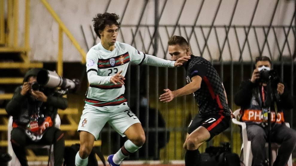 Portugal gana con un gol de Joao Félix, pero Croacia evita el descenso 'in extremis'