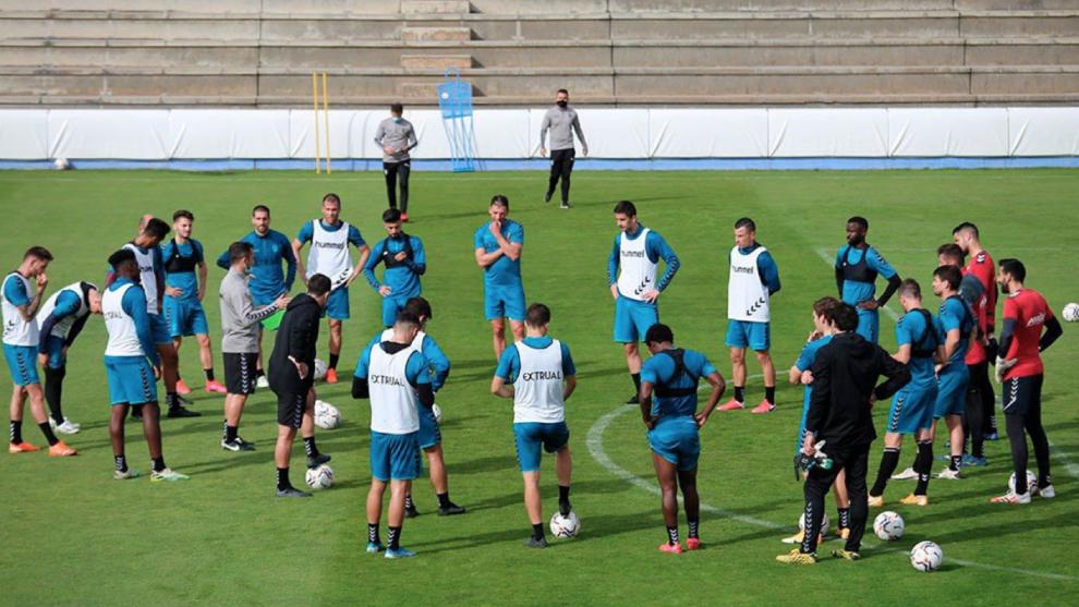 Sesión de entrenamiento del Albacete.