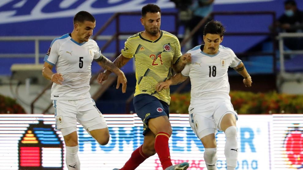 Mauro Arambarri con la selección de Uruguay.