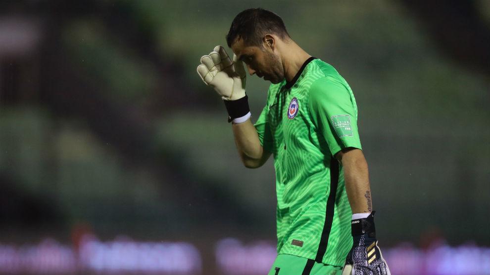 Claudio Bravo, con la selección de Chile