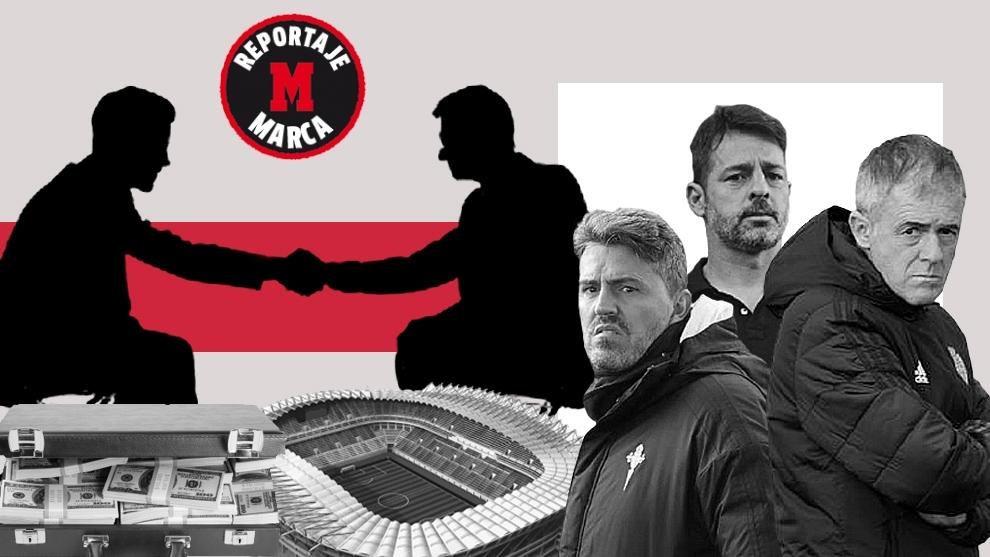 Montaje MARCA con imágenes de varios entrenadores