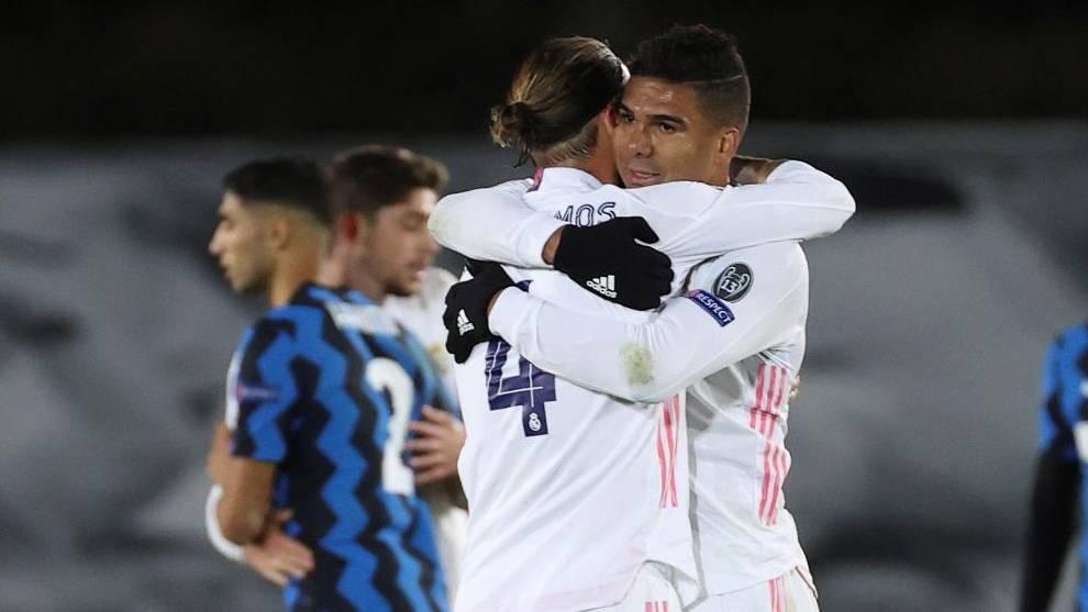Casemiro and Ramos.