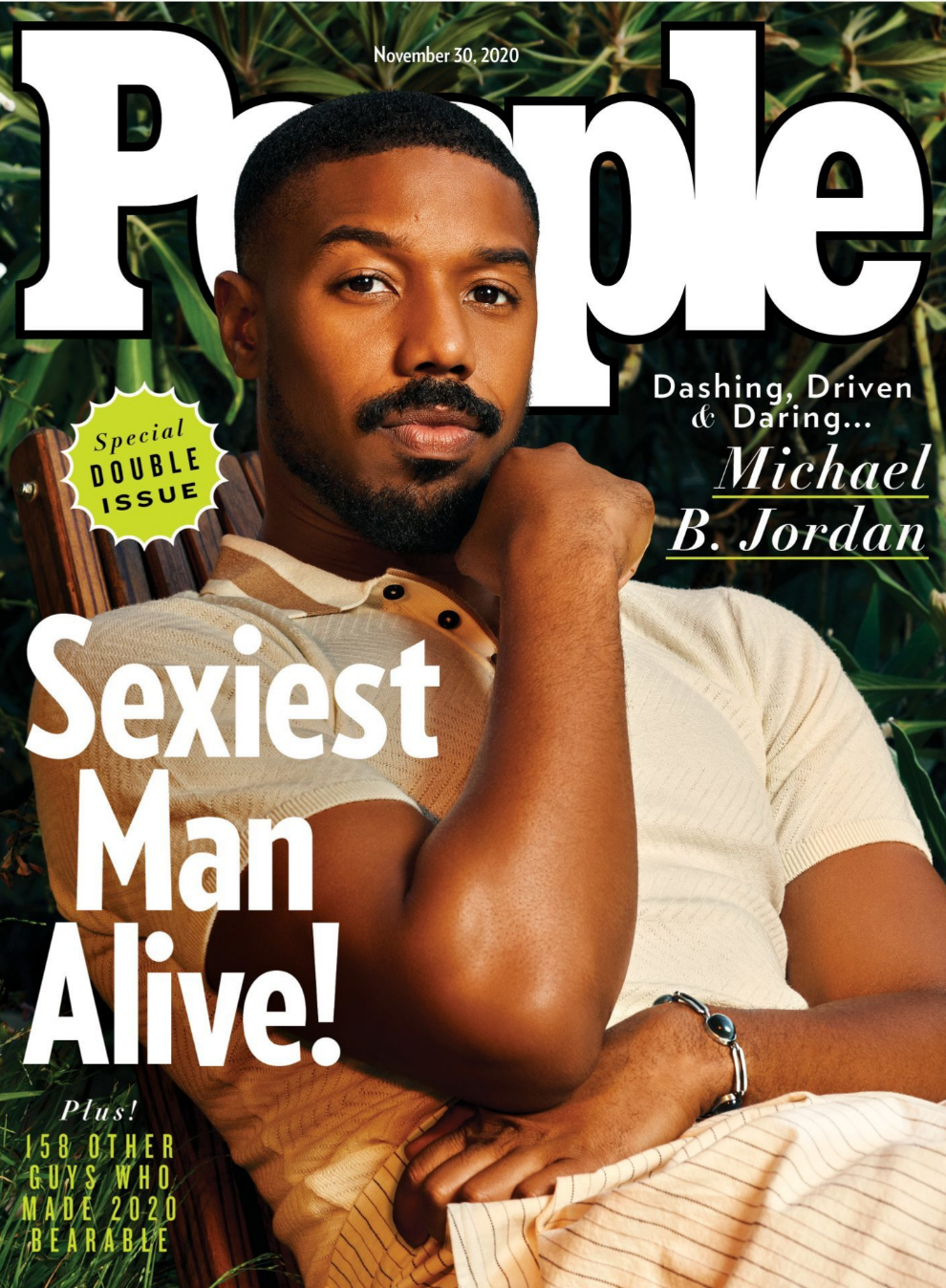 Portada de la revista People con Michael B. Jordan como hombre vivo más sexy de 2020