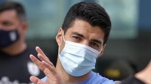 Suárez, con su selección.