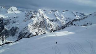 Una estación de esquí.