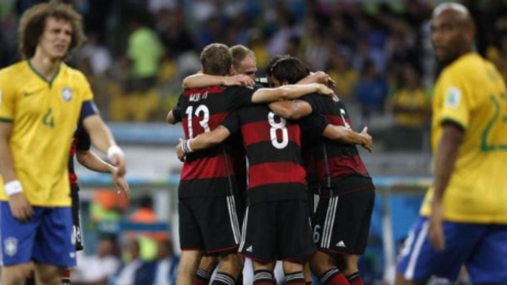 Semifinal del Mundial 2014 entre Brasil y Alemania.